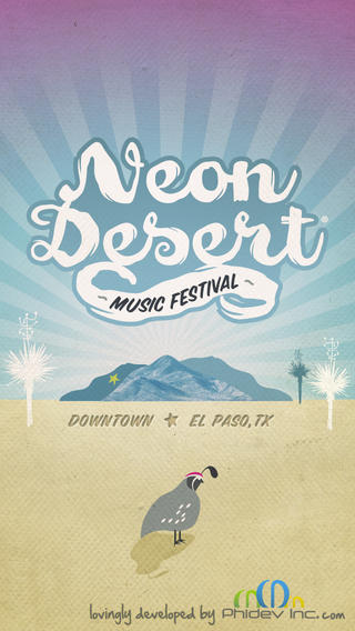 Neon Desert iPhone App